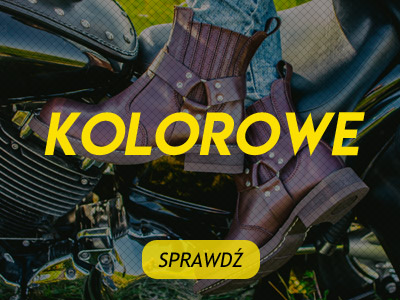Kolorowe buty na choppera WILDROUTE